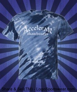 "Accelerate ""Tiger striped tie dye"" blue Design Zoom"