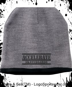 Accelerate beanie cap (gray) Design Zoom
