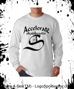 Accelerate white long sleeve Design Zoom