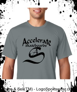 Accelerate gray T with logo Design Zoom