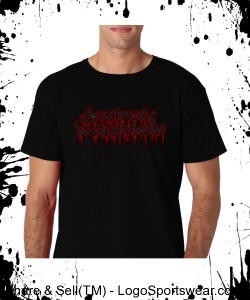 "Accelerate ""blood font"" (black T) Design Zoom"