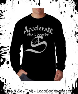 Accelerate Black long sleeve. Design Zoom