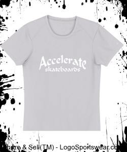Accelerate skateboards ladies (gray) Design Zoom