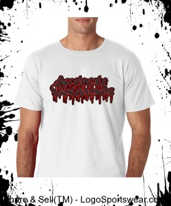"Accelerate ""blood font"" (white) Design Zoom"